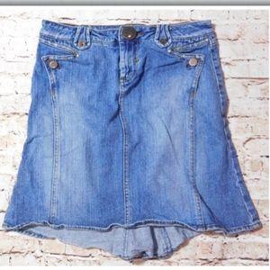 Candie's Women's Denim Blue Jean Back Flared Skirt
